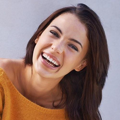 Woman with healthy attractive smile