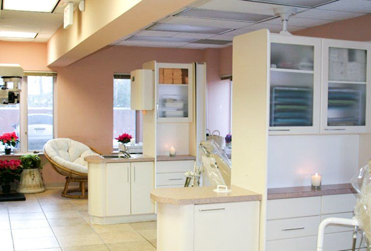 Warm and comfortable dental exam rooms