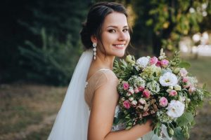 a woman on her wedding day
